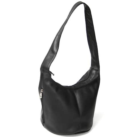 Royce Leather Women's Vaquetta Hobo Bag with Side Zip Pocket