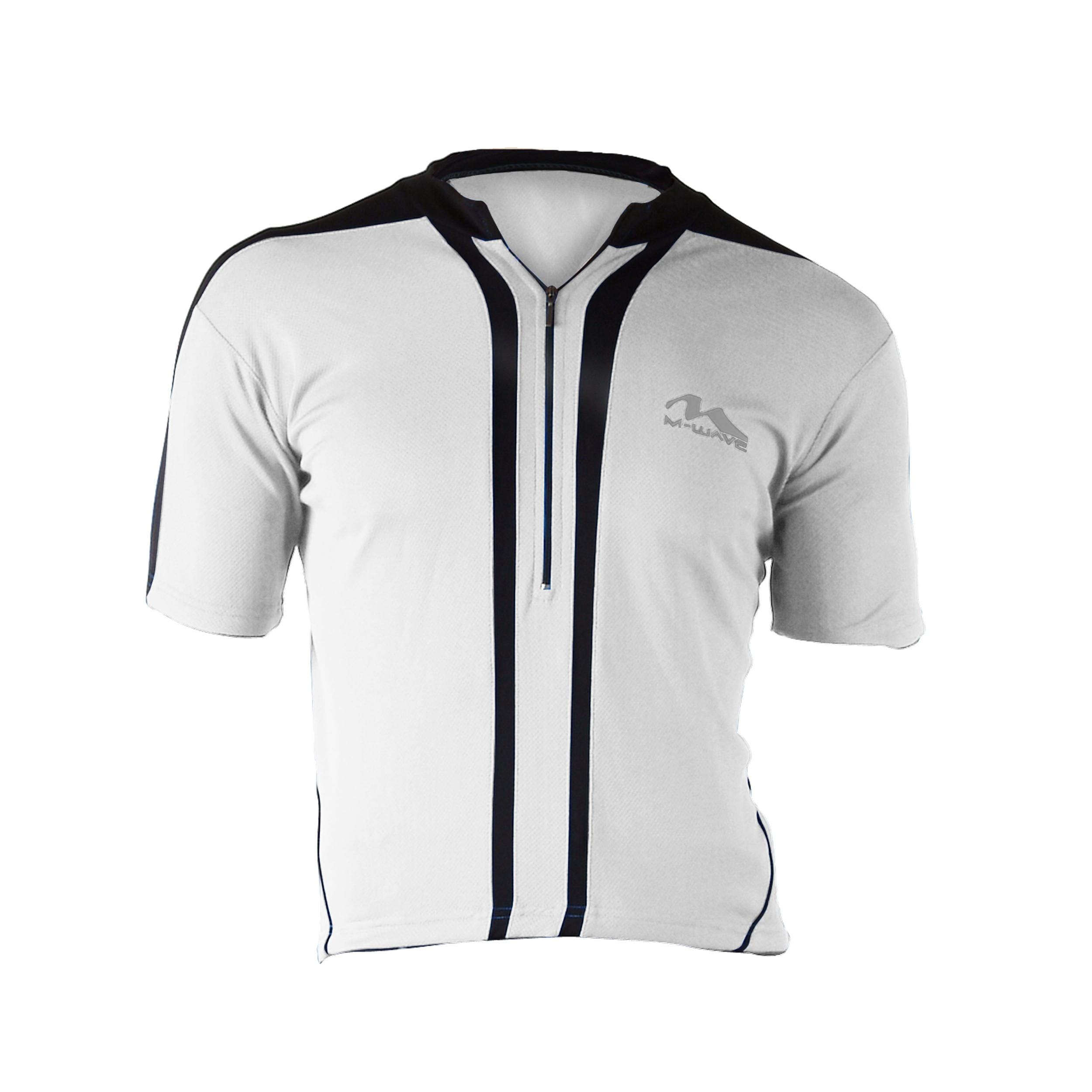 Cycle Force Men's M-Wave White Bicycle Jersey-Medium