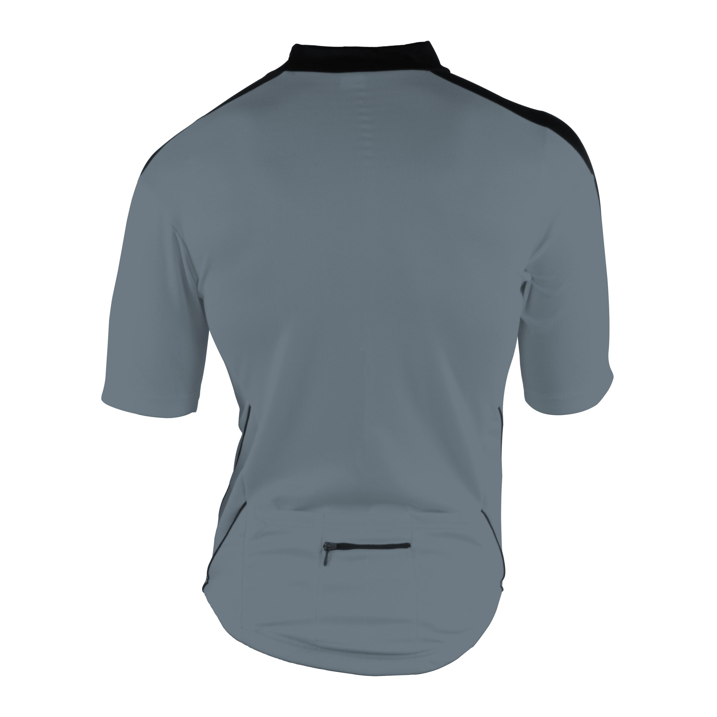 Cycle Force Men's M-Wave Dark Grey Bicycle Jersey (Large)