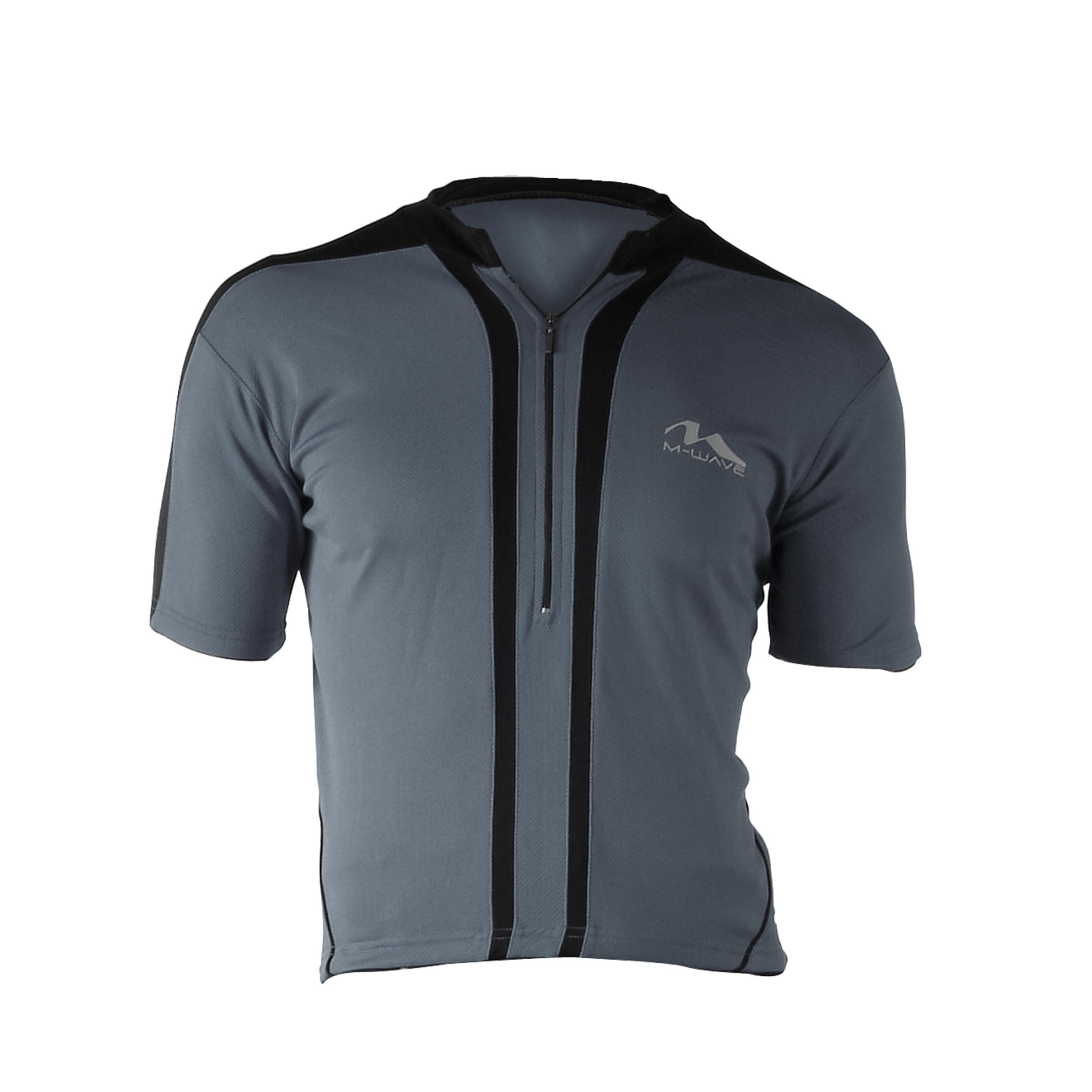 Cycle Force Men's M-Wave Dark Grey Bicycle Jersey