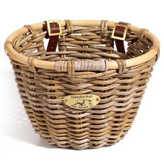 Nantucket Bicycle Basket Co. Classic Rattan Bicycle Basket
