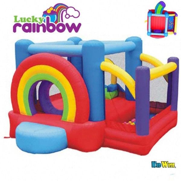 KidWise Lucky Rainbow Inflatable Bounce House
