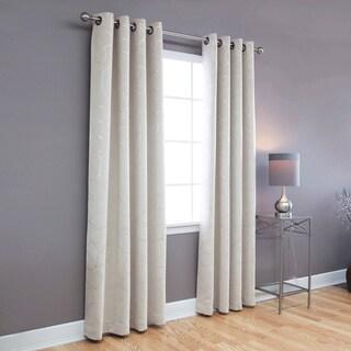 Aurora Home Modern Foil 96-inch Blackout Grommet Curtain Panel Pair