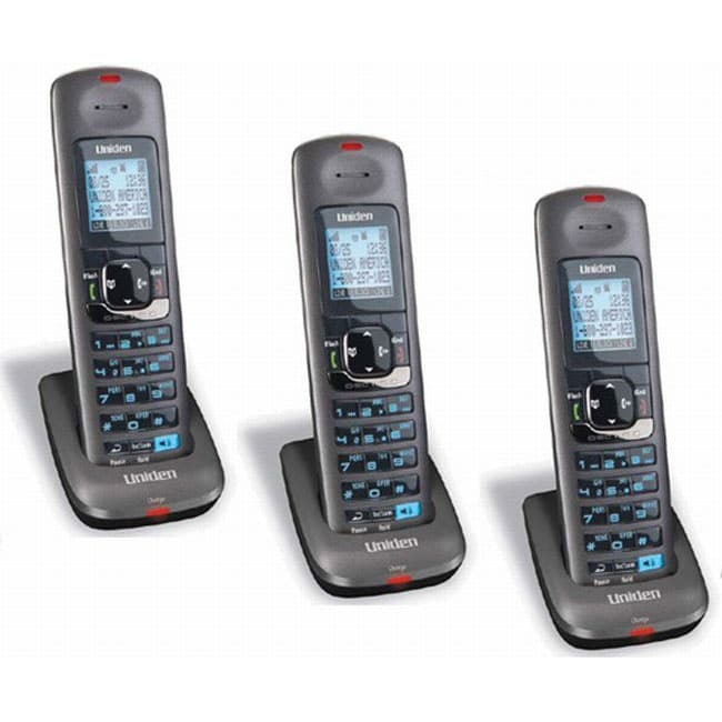 Uniden DCX400 DECT 6.0 Expandable Cordless Phone Handset (Pack of 3) Main base not included