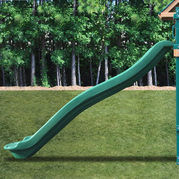 Kidwise 7 Ft Deck Height Green Rave Slide Upgrade For Play Sets Overstock 5985713