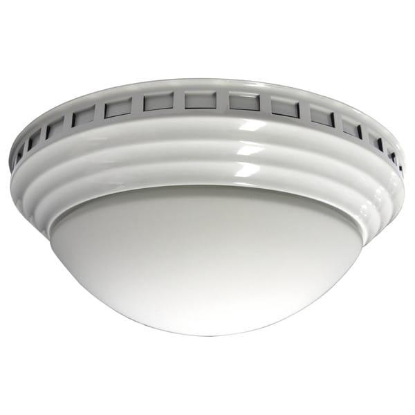 Decorative Dome with White Trim 100 CFM Bath Fan