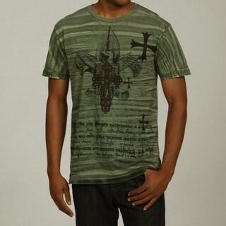 Pop Icon Men's Green Cotton Graphic Tee