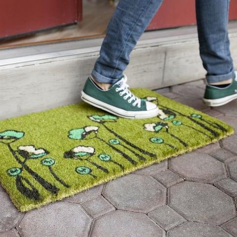 Green Tulips Non-slip Doormat