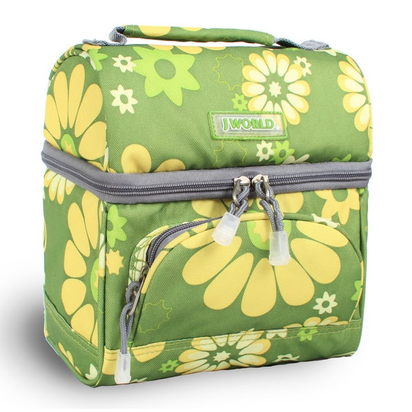 J World 'Corey' Khaki Flower Lunch Bag