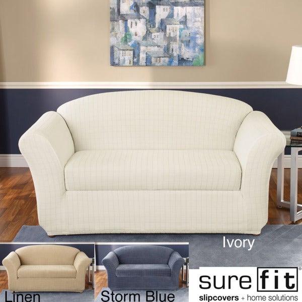 Sure Fit Stretch Squares Sofa Slipcover