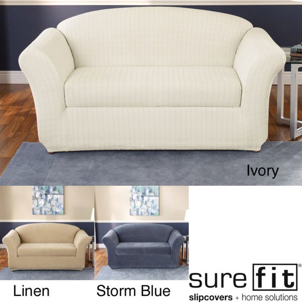 Sure Fit Stretch Squares Loveseat Slipcover