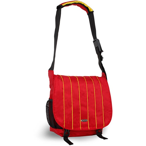 J World 'Jeanie' Yellow/ Red Laptop Messenger Bag