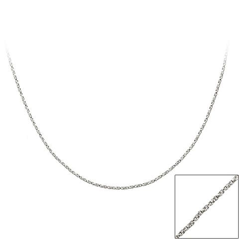 Mondevio Sterling Silver 18-inch Twisted Box Chain Necklace