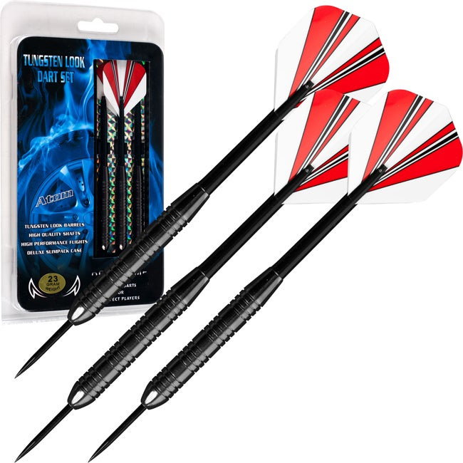 TG High Quality Black Steel Tip Dart Set - Thumbnail 0