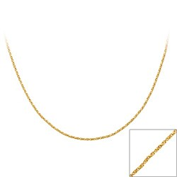Mondevio 18k Gold over Silver 36-inch Twisted Box Chain Necklace