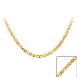 Mondevio Gold over Silver 18-inch Bizmark Chain Necklace