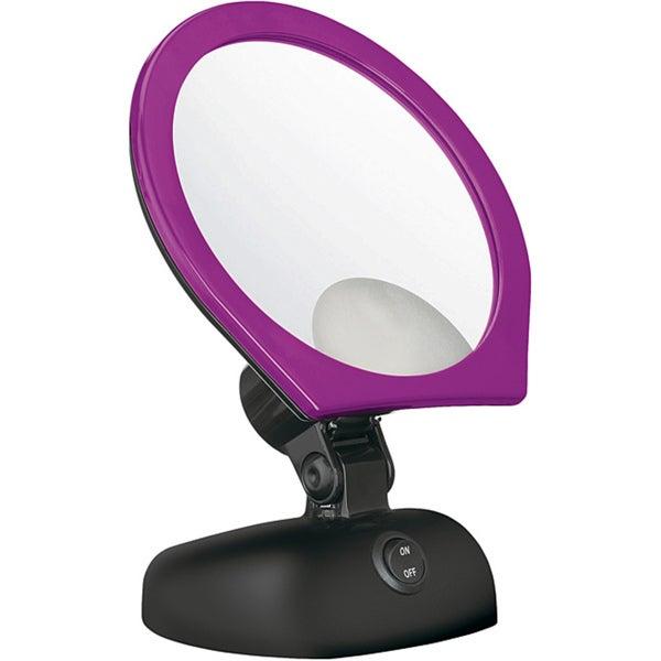 Conair Purple Pansy 5X Single-sided Lighted Mirror