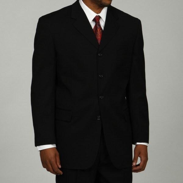 Shop Bendetti Men's Charcoal Wool 4-button Suit - Free ...