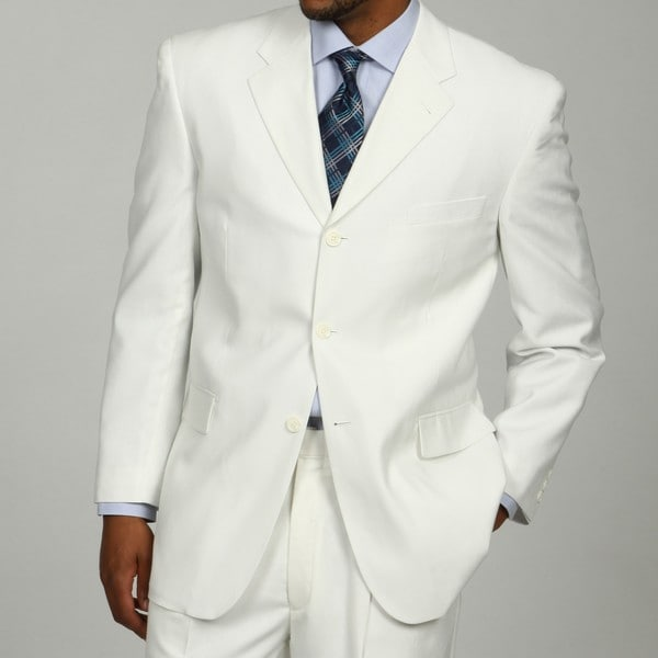 Men's White 3-button Suit
