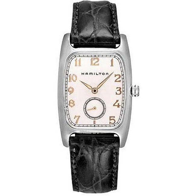 Hamilton Men's Boulton White Dial Stainless Steel Case Watch