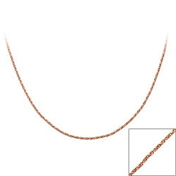 Mondevio Rose Goldtone18-inch Twisted Box Chain Necklace
