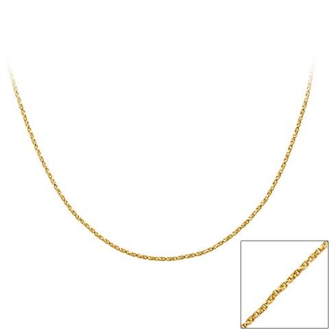 Mondevio 18k Gold over Silver 18-inch Twisted Box Chain Necklace