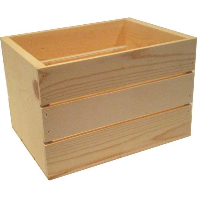 Shop Small 14 Inch Wooden Crate Free Shipping On Orders
