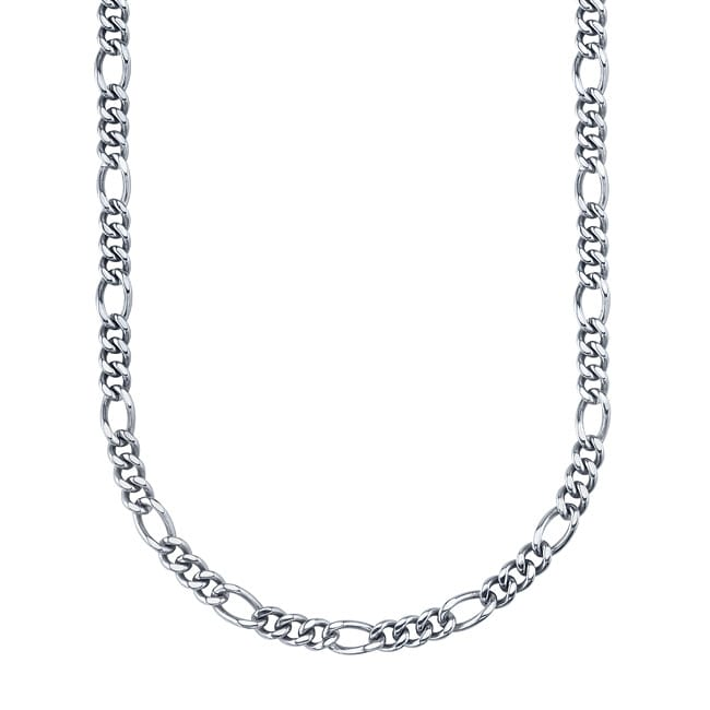 Stainless Steel 24-inch Figaro Link Necklace