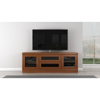 Transitional 70-inch Light Cherry Entertainment Console