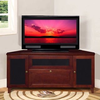 Shaker Dark Cherry TV and Entertainment Corner Console