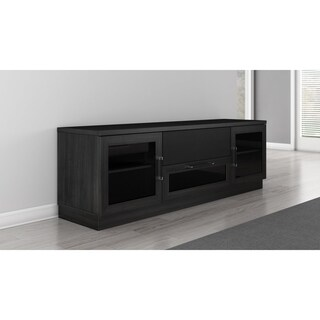Contemporary Ebony Finish TV and Entertainment Console