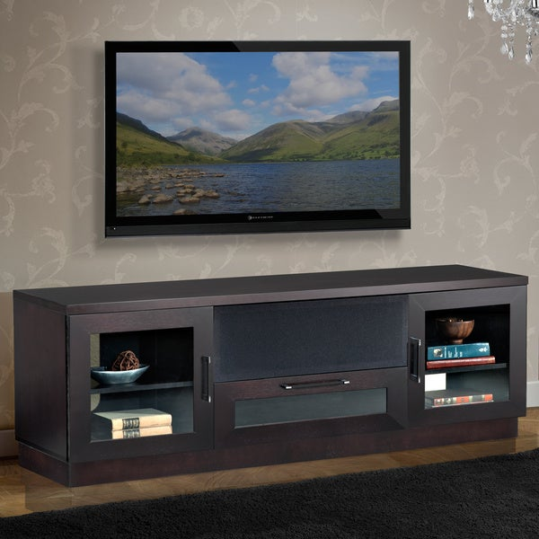contemporary 70 in wenge tv and entertainment console. Black Bedroom Furniture Sets. Home Design Ideas