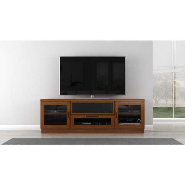 Contemporary 70-in Light Cherry TV and Entertainment Console