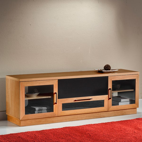 Contemporary 70-in Natural Cherry TV and Entertainment Console