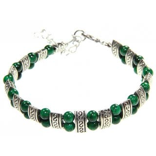 Handmade Tibetan Silver Malachite Bracelet (China)|https://ak1.ostkcdn.com/images/products/5986671/P13676656.jpg?impolicy=medium