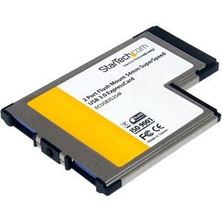 StarTech.com 2 Port Flush Mount ExpressCard 54mm SuperSpeed USB 3.0 C
