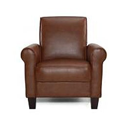Shop Rollx Med Brown Faux Leather Accent Chair Free