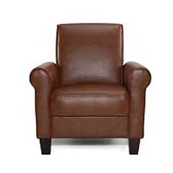 Awesome Rollx Med Brown Faux Leather Accent Chair Overstock Com Shopping The Best Deals On Living Room Chairs Creativecarmelina Interior Chair Design Creativecarmelinacom