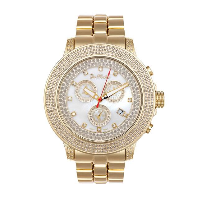 Joe Rodeo Men's Pilot Jumbo Size Diamond Watch