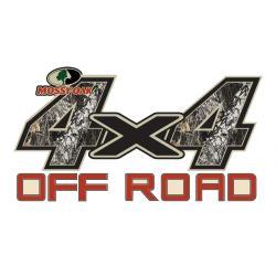 Mossy Oak Break-up 4x4 Off Road Decal - Thumbnail 0