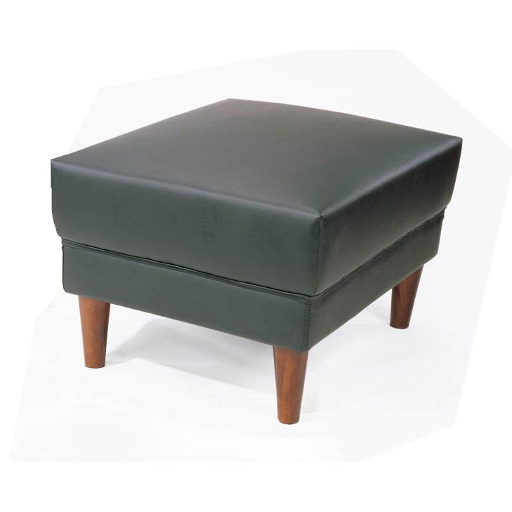 Black Faux Leather Cool Ottoman