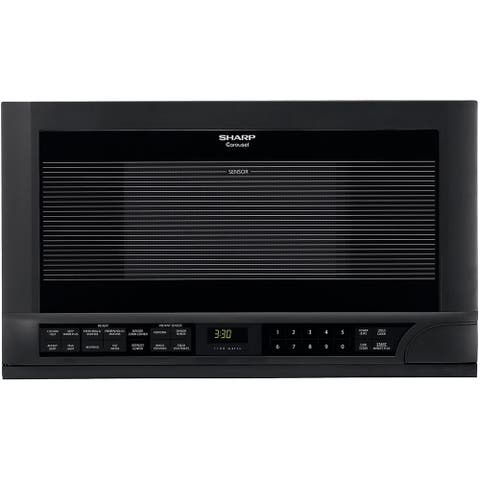 Sharp R-1210 Black 1.5-cu-ft Over-the-counter Microwave