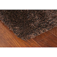 Manhattan Tweed Brown/ Black Shag Rug - 2'3 x 7'9