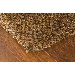 "Manhattan Tweed Brown/Gold Shag Runner Rug (2'3"" x 7'9"")"