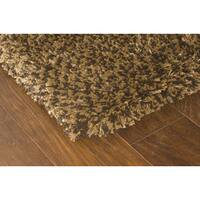 Manhattan Tweed Brown/ Gold Shag Rug - 4' x 6'