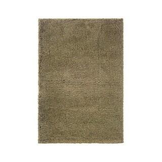Manhattan Tweed Blue/ Gold Shag Rug (4' x 6')