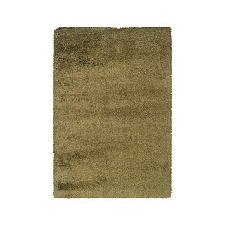 Manhattan Tweed Green/ Gold Shag Rug - 4' x 6'