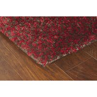 Manhattan Tweed Red/ Brown Shag Rug - 4' x 6'