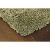 Manhattan Tweed Green/ Blue Shag Rug - 5' x 8'