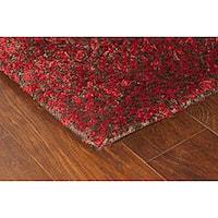 Manhattan Tweed Red/ Brown Shag Rug - 5' x 8'